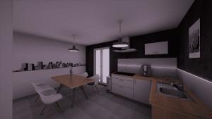 Image 3D d'un salon moderne