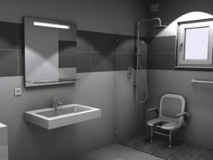 Salle de bain équipée pmr