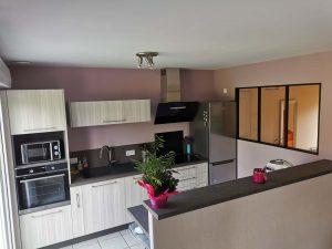 cuisine moderne avec verrière vitrée