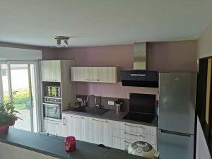 cuisine ouverte en couloir