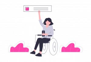 Personne à mobilité réduite en fauteuil