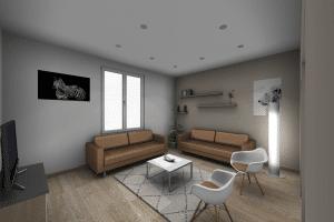 salon-beige-bois-modern