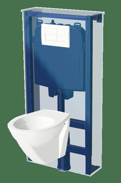 Bâti support pour WC suspendu