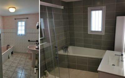 Rénovation de salle de bain au nord d'Angers, à Longuénée