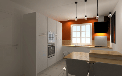 Rénovation d'une cuisine près d'Angers à Longuenée en Anjou